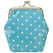 Buy Cath Kidston Dot Clasp Purse, Blue Online at johnlewis.com