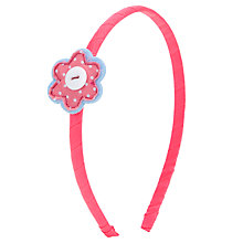 Buy John Lewis Girl Flower Button Alice Band, Pink Online at johnlewis.com