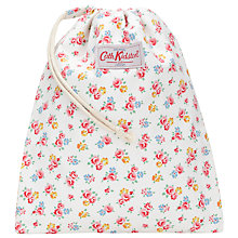 Buy Cath Kidston Freston Rose Drawstring Wash Bag, White/Multi Online at johnlewis.com