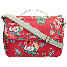 Buy Cath Kidston Kew Sprig Satchel, Red Online at johnlewis.com