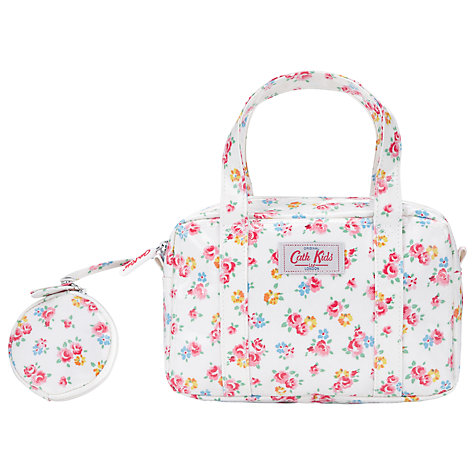 Buy Cath Kidston Freston Rose Mini Box Bag and Purse, White/Multi Online at johnlewis.com