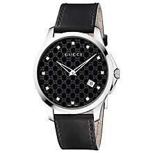 Buy Gucci YA126305 G-Timeless Men's Lacquered Dial Diamond Watch, Black Online at johnlewis.com
