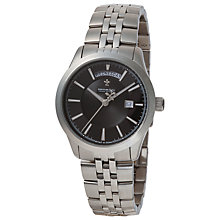 Buy Dreyfuss & Co DGB00058/04 Men's Day / Date Stainless Steel Watch, Silver Online at johnlewis.com