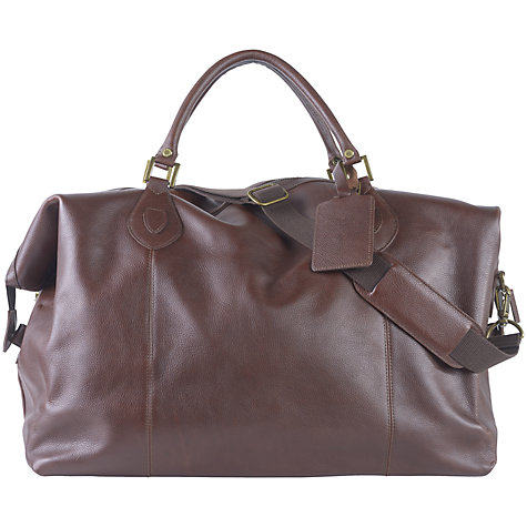 Buy Barbour Giant Explorer Leather Holdall Online at johnlewis.com