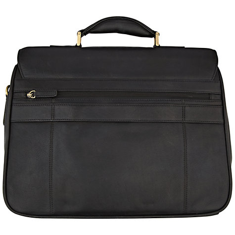 Buy John Lewis Strasbourg Leather Laptop Briefcase Online at johnlewis.com