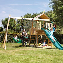 Buy TP Toys Kingswood 2 Set with Tower, Swing Arm, Rapide Slide, Slide Extension, Activity Play Pack, Pirate Boat and Junior Seat Online at johnlewis.com