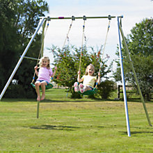 Buy TP Toys Double Giant Swing Frame with Deluxe Swing Seats Set Online at johnlewis.com