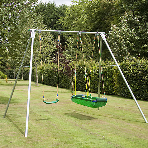 Buy TP Toys Double Giant Swing Frame with Deluxe Swing Seat and Pirate Boat Set Online at johnlewis.com