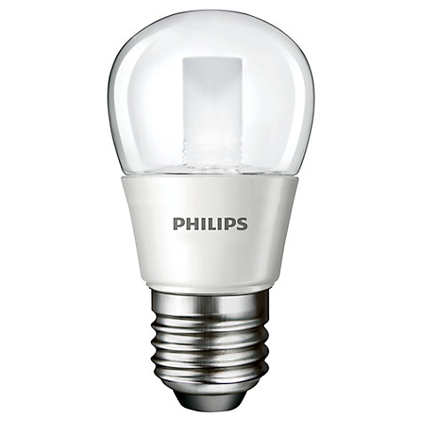 Buy Philips 4W ES LED Golf Ball Bulb, Clear Online at johnlewis.com