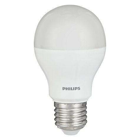 Buy Philips 9.5W ES Energy Saving LED Classic Bulb, Frosted Online at johnlewis.com