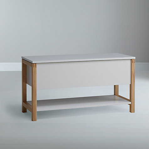 Buy John Lewis Northgate Flip-top Storage Bench, Oak, L120cm Online at johnlewis.com