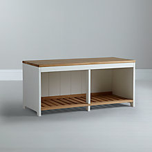 Buy John Lewis Garrick 2 Seater Shoe Bench Online at johnlewis.com