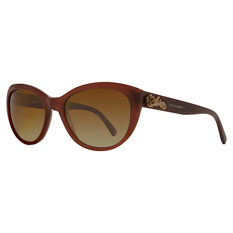Buy Dolce & Gabbana DG4160 Sicilian Baroque Cat's Eye Sunglasses, Tan Online at johnlewis.com