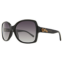 Buy Dolce & Gabbana DG4168 Baroque Square Sunglasses, Black Online at johnlewis.com