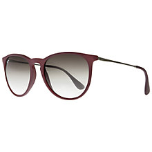 Buy Ray-Ban RB4171 Erika Sunglasses, Red Online at johnlewis.com