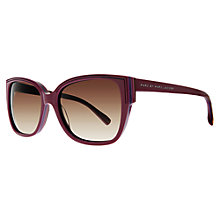 Buy Marc by Marc Jacobs MJ238/S Oversized Square Frame Sunglasses, Pink Online at johnlewis.com