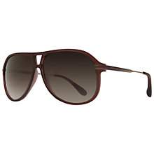 Buy Marc by Marc Jacobs MMJ239/S Aviator Sunglasses, Burgundy Online at johnlewis.com