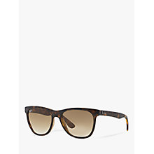 Buy Ray-Ban RB4184 710/51 Square Sunglasses, Tortoise Brown Online at johnlewis.com