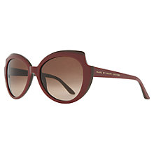 Buy Marc by Marc Jacobs MJ262/S  XRD-D8 Side Cut-Out Round Sunglasses, Burgundy Online at johnlewis.com