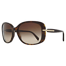 Buy Prada PR08OS Oversized Square Framed Sunglasses, Tortoiseshell Online at johnlewis.com