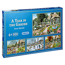 Buy Gibson & Son A Year in the Garden 500 Piece Puzzle, Pack of 4 Online at johnlewis.com