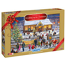 Buy Gibson & Son Breaking up for Christmas 1000 Piece Jigsaw Puzzle Online at johnlewis.com
