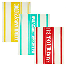 Buy Jamie Oliver Tea Towels, Set of 3 Online at johnlewis.com