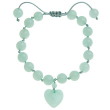 Buy Lola Rose Millie Apple Green Quartzite Bead Heart Bracelet Online at johnlewis.com