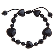 Buy Lola Rose Black Agate Heart Bracelet Online at johnlewis.com