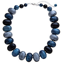 Buy John Lewis Potato Bead Acrylic Necklace, Blue Online at johnlewis.com