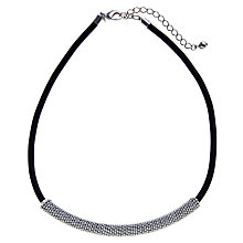Buy John Lewis Rubber and Rhodium Ball Necklace, Black Online at johnlewis.com