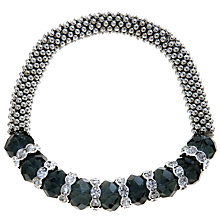 Buy John Lewis Rhodium Plated Bead Glass Bracelet, Blue Online at johnlewis.com