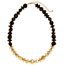 Buy John Lewis Mixed Bead Stretch Necklace, Blue / Gold Online at johnlewis.com