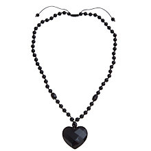Buy Lola Rose Jezebel Black Agate Beaded Heart Pendant Necklace Online at johnlewis.com