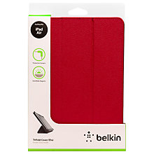 Buy Belkin Tri-Fold Cover with Stand & Autowake for iPad mini with Retina display, Rose Online at johnlewis.com