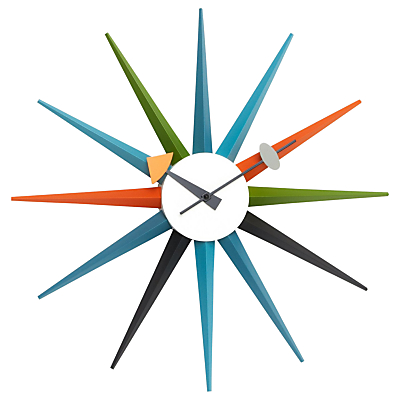 Image of Vitra Sunburst Wall Clock, Dia.47cm