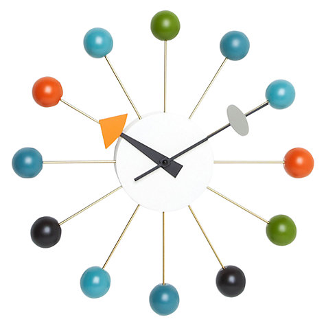 Buy Vitra Ball Wall Clock, Dia.33cm Online at johnlewis.com
