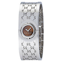 Buy Gucci Women's Small Twirl Steel Logo Cuff Watch Online at johnlewis.com