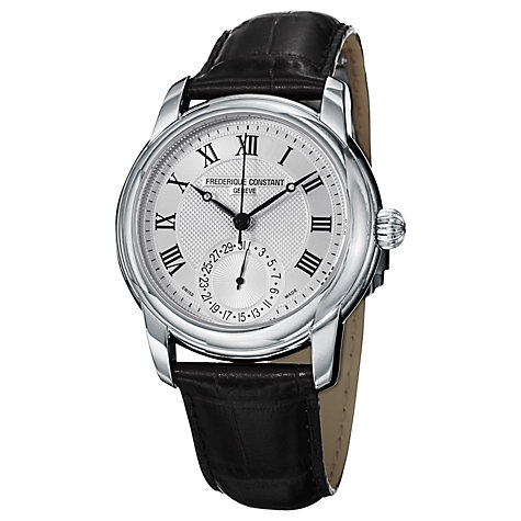 Buy Frédérique Constant FC-710MC4H6 Men's Classic Manufacture Automatic Watch, Black / Silver Online at johnlewis.com