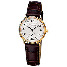Buy Frederique Constant FC-235AS1S5 Women's Classics Slim Line Watch, Gold / Brown Online at johnlewis.com