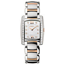 Buy Ebel 1215922 Women's Mother of Pearl Diamond Watch, Silver / Rose Gold Online at johnlewis.com