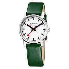 Buy Mondaine Unisex Exclusive Leather Strap Watch Online at johnlewis.com