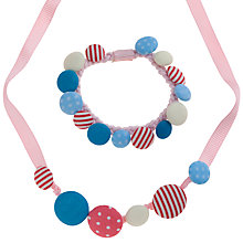 Buy John Lewis Girl Stretch Button Necklace and Bracelet Set, Multi Online at johnlewis.com