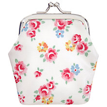 Buy Cath Kidston Freston Rose Clasp Purse, White/Multi Online at johnlewis.com