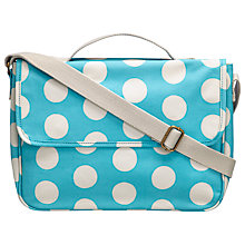 Buy Cath Kidston Big Spot Satchel, Turquoise Online at johnlewis.com