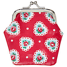 Buy Cath Kidston Sweetheart Rose Clasp Purse, Red Online at johnlewis.com