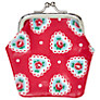 Cath Kidston Sweetheart Rose Clasp Purse, Red