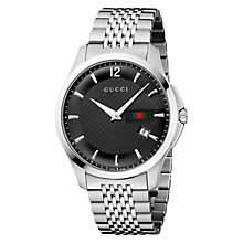 Buy Gucci G-Timeless Men's Slim Steel Bracelet Strap Watch Online at johnlewis.com