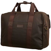 Buy Barbour Matelot Waxed Cotton Holdall Online at johnlewis.com