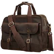 "Buy Barbour Mizzen 15"" Laptop Waxed Cotton Briefcase Online at johnlewis.com"